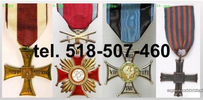 Kupię stare ordery, medale, odznak, odznaczenia