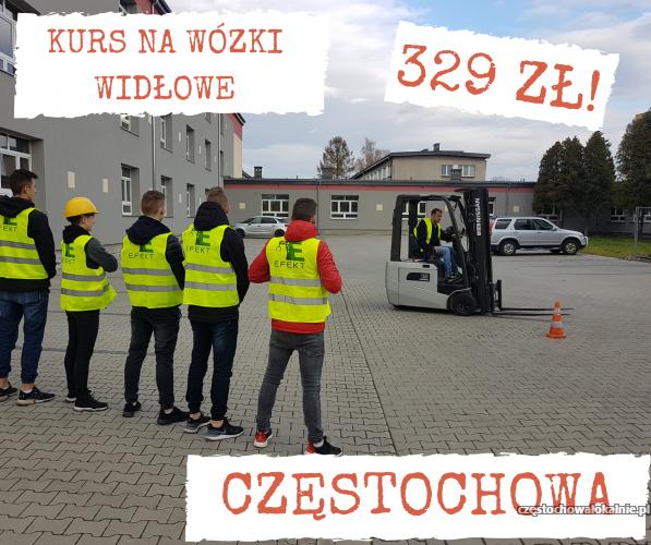 Kurs na wózki widłowe UDT 329 zł - Częstochowa