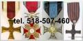 Kupię stare kolekcje odznak, odznaczeń, medali