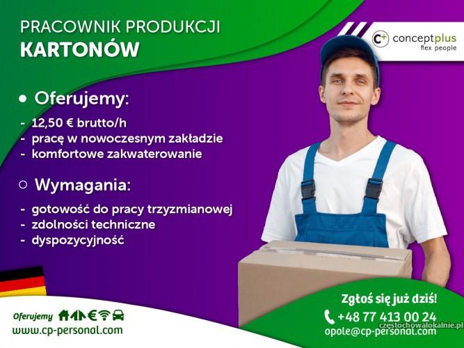 Pracownik produkcji ( k/m ) – produkcja kartonów i opakowań